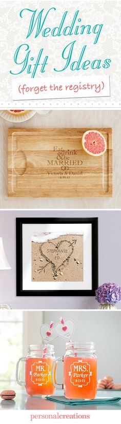 Turn a unique gift into a one-of-a-kind keepsake. Surprise the newlyweds with something that's not on their registry. *Offer expires gift for wedding Wedding Engagement, Our Wedding, Dream Wedding, Craft Gifts, Diy Gifts, Creative Gifts, Unique Gifts, Wedding Favors, Gift Wedding