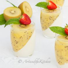 This recipe for SunGold Kiwi Panna Cotta is the perfect blend of creamy and zesty in one incredible, delicious spoonful.