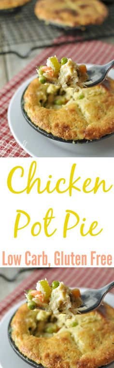 Chicken Pot Pie - Low Carb, Gluten Free | Peace Love and Low Carb | peaceloveandlowcarb.com