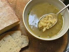 Pot au fey. The first course, ladle off the broth and throw in some pasta or dried bread