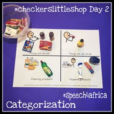 Checkers Little Shop Day 2 Shopping Day, Therapy Ideas, Speech And Language, Speech Therapy, Speech Pathology, Speech Language Therapy, Speech Language Pathology, Languages, Articulation Therapy