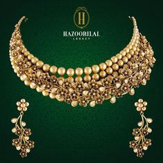 : Featuring an ethereal charm, stunning details define the floral gold necklace by . Visit us for elegant designs at our exclusive showrooms in South Extension, New Delhi: 011 - 4873 3333 & Gold Souk, Gurgaon: 0124 - 4115123 Gold Earrings Designs, Necklace Designs, Jewelry Gifts, Gold Jewelry, Tiffany Jewelry, Gold Necklaces, Gold Bangles, Antique Necklace, Antique Jewellery
