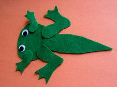 Felt transforming toad. Great visual aid. use with pond/frog unit