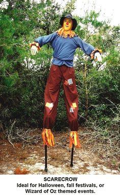 Scarecrow.  Stilts(stiltfun.com)