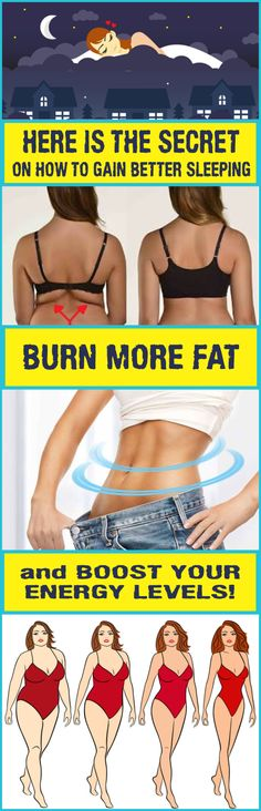 HERE IS THE SECRET ON HOW TO GAIN BETTER SLEEPING, BURN MORE FAT AND BOOST YOUR ENERGY LEVELS!