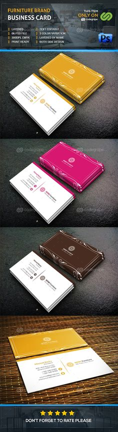 Furniture Brand Business Card - http://www.codegrape.com/item/furniture-brand-business-card/7866