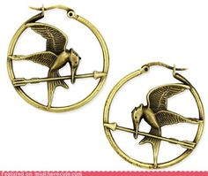 Mockingjay earrings.. I NEED THESE!
