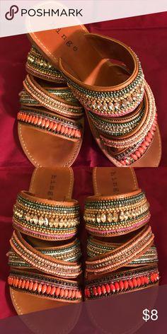 10773e52f3e Women hinge sandals Multi colored women hinge sandals used hinge Shoes  Sandals
