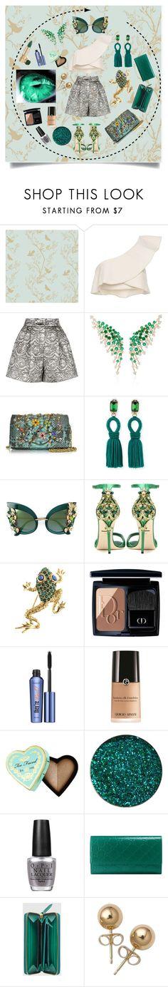 """Emerald♡"" by roxy-elly22 ❤ liked on Polyvore featuring Timorous Beasties, Isabel Marant, Dolce&Gabbana, Hueb, Ghibli, Oscar de la Renta, Christian Dior, Benefit, Giorgio Armani and Too Faced Cosmetics"