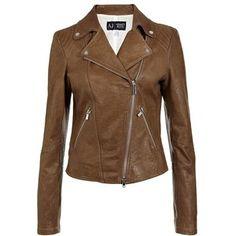Armani Jeans Leather Biker Jacket - Polyvore