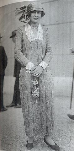 Glorious knitted dress from the 20's sometime.
