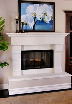 Raised Fireplace Hearth