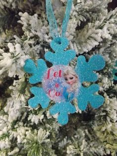 Disney Frozen Elsa Snowflake OrnamentLet It Go by NeverGrowUp4Ever