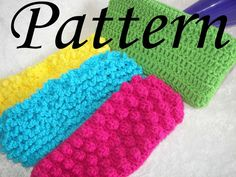 Free Pattern for Swiffer Cover | PDF Pattern for Swiffer Cover Pads 4 Different by SashmoCo, via Etsy.