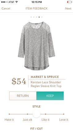#stitchfix @stitchfix stitch fix https://www.stitchfix.com/referral/3590654 Love the lace detail of this top!! Market & Spruce Kersten Lace Top