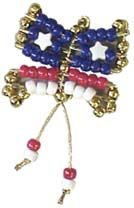 Girl Scout Safety Pin Butterfly SWAP . Show this adorable patriotic butterfly around. To get supplies go to MakingFriends.com