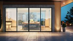 Modern Patio Doors, French Doors Patio, Contemporary Patio Doors, Double Sliding Patio Doors, Sliding French Doors, French Windows, Farmhouse Patio Doors, Bifold Doors Onto Patio, Modern Windows And Doors