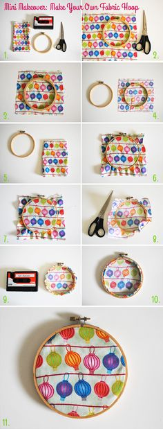 Mini Makeover: Make Your Own Fabric Hoop Instructions via Style for a Happy Home