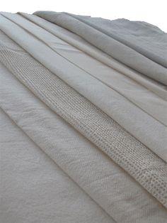 Tissu en coton bio, lin et chanvre. Côté nature bio. Renaison