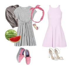 """""""A little bit dirty dancing"""" by betty-bossy ❤ liked on Polyvore featuring Topshop, Rebecca Taylor, Keds, Carole, Kate Spade, Elizabeth and James and Jimmy Choo"""