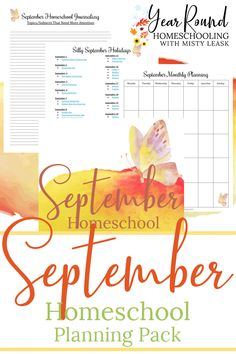 Make your September homeschool planning easy for you and fun for your kids with this Year Round Homeschooling monthly planning pack! #HomeschoolPlanning #Printables #SeptemberHomeschooling #Homeschooling #Homeschool #YearRoundHomeschooling School Today, Pre School, Free Homeschool Curriculum, Homeschooling, September Holidays, Learning Resources, Textbook, Fun Activities, Holiday Fun