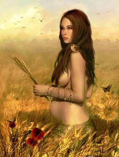 ✯ Ziwa .. also Šiva .. The Slavic Goddess of Love and Fertility :: Artist Martin Maceovic ✯