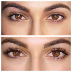 Natural and false eyelashes before and after. u2014 Stock Photo ...