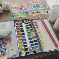 Cute Snacks, Watercolor Paint Set, Artist Materials, Color Studies, Art Supplies, Studying, Paper, Creative, Projects