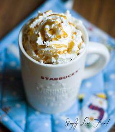 Salted caramel hot chocolate! Best winter warming comfy drink!No whip!! Yes caramel n sea salt : )