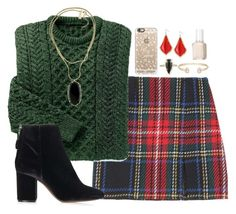 """""""day 6: Christmas party"""" by julesnewkirk ❤ liked on Polyvore featuring Opening Ceremony, Topshop, Kendra Scott, Casetify, Essie and Christmascontest"""