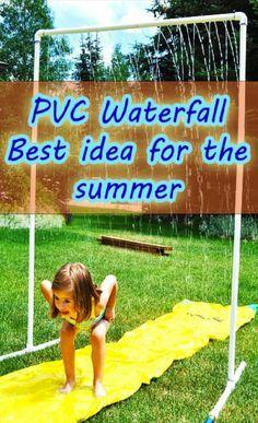 Pvc waterfall best summer idea for kids #Family #Trusper #Tip