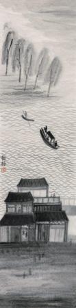 江边楼台 by zhu yamei