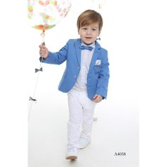 Boy's Christening piece Suit in Sky Blue-White, Special Occasion Clothing for Children Y Kids Wear Boys, Kids Clothing Brands, Kids Suits, Special Occasion Outfits, Fashion Cover, Designer Kids Clothes, 3 Piece Suits, Kids Fashion Boy, Stylish Kids