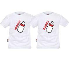 Lot de 2 tee shirts enfant jumeaux : drinking buddies - SiMedio