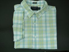 AMERICAN EAGLE mens Shirt XL Free Shipping casual  SS plaid short sleeve #AmericanEagleOutfitters #ButtonFront
