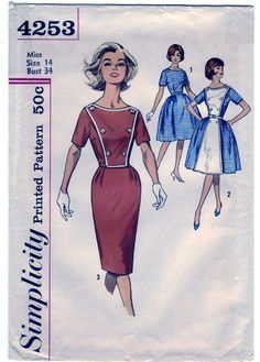 Vintage 1962 Simplicity 4253 UNCUT Sewing door SewUniqueClassique, $14.00