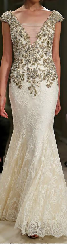 Badgley Mischka ● 2014 #wedding #fashion #runway