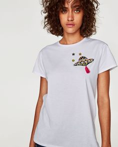 Latest Spring/Summer trends for women's t-shirts at ZARA online.