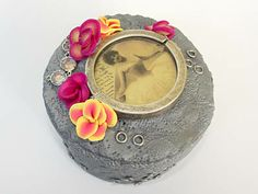 Silver Floral Steampunk Jewelry Box