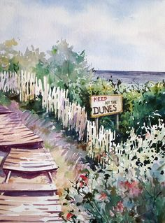 This original watercolor painting of the dunes on a southern jersey beach makes a great piece for any summer home. Painting is on high quality watercolor paper, signed by artist, backed, and wrapped for protection.
