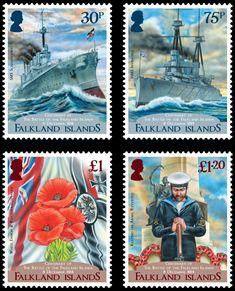 Die Falkland-Inseln gedenken mit einer Briefmarkenausgabe am 8. Dezember an das Seegefecht vor 100 Jahren