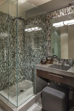 Downtown Penthouse - contemporary - bathroom - omaha - Interiors Joan and Associates
