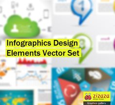 Graphic - Infographics Design Elements Vector Set - Zizaza item for free