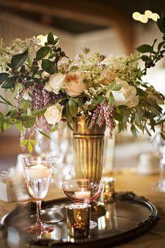 Photography: Courtney Bowlden - courtneybowlden.com  Read More: http://www.stylemepretty.com/northwest-weddings/2014/03/20/blush-peach-gold-anthropologie-inspired-wedding/