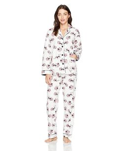 8e7ee1b39e PJ Salvage Fantastic Flannels Sheepy Time Pajama Set Size M Ivory RESTPJ   PJSalvage  PajamaSets