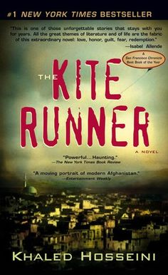 The Kite Runner by Hosseni. A book club favorite.