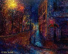 iris scott finger painting | Asombrosas pinturas hechas con los dedos, por Iris Scott