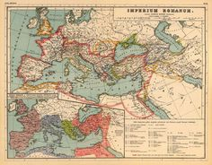 Europe map - Old map of Europe - Roman Empire map - Historic map - Wall map giclee print, available on paper or canvas Vintage Maps, Vintage Wall Art, Roman Empire Map, Historical Maps, Historical Architecture, Wall Maps, Giclee Print, Canvas Prints, Macedonia