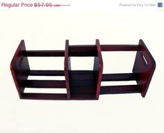 Solid Teak Wood Sliding Adjustable Table Desktop Book Rack Bookends