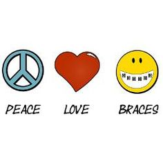 Without the words, would you recognize all three symbols? I think the smiley face with the Orthodontic braces looks cool. Dental Quotes, Dental Humor, Incognito Braces, Braces And Glasses, Orthodontic Humor, Braces Humor, Orthodontics Marketing, Braces Retainer, Cute Braces Colors